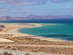 Hermosa playa de Costa Calma en Canarias