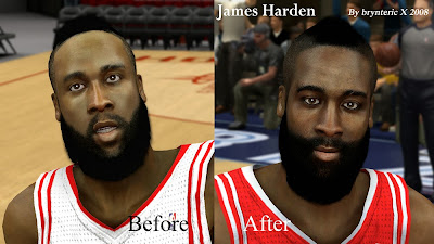 James Harden Face, Hair, Beard Fix