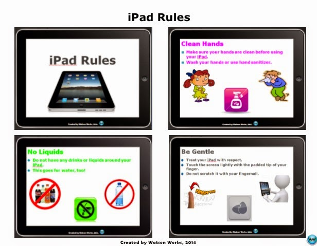 http://www.teacherspayteachers.com/Product/iPad-Rules-Handout-for-Elementary-1222418