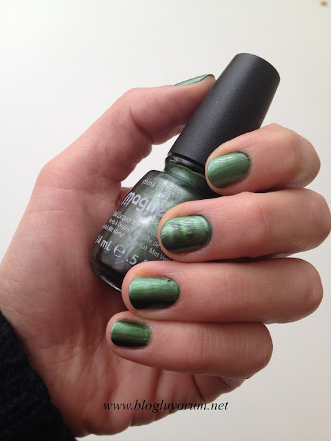 CHINA GLAZE MAGNETIX 1162 CON-FUSED YEŞİL OJE 5