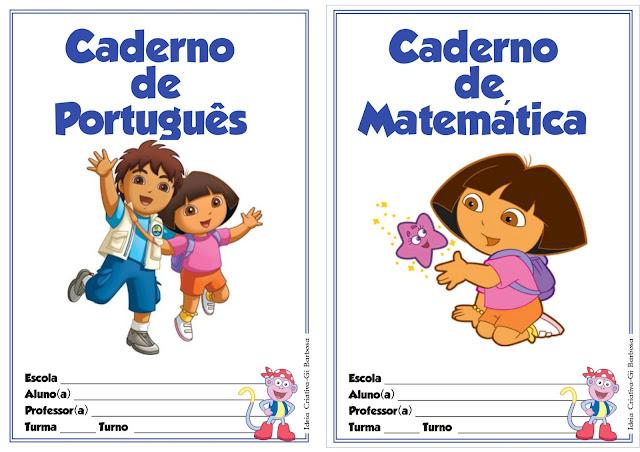 Capas para Caderno Dora Aventureira
