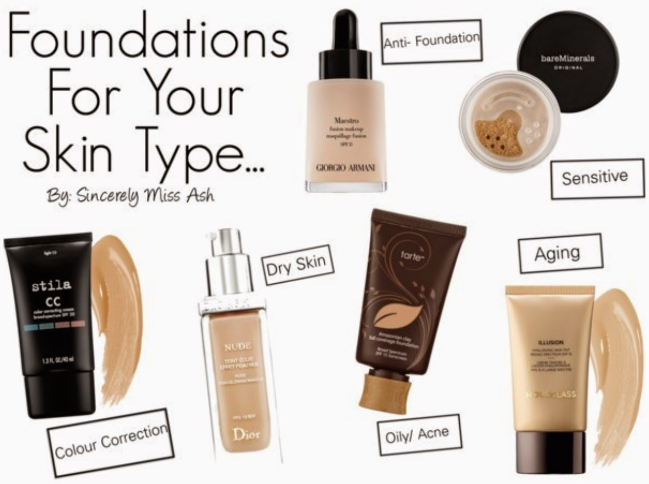 Sincerely miss ash foundations for every skin type for Different foundations