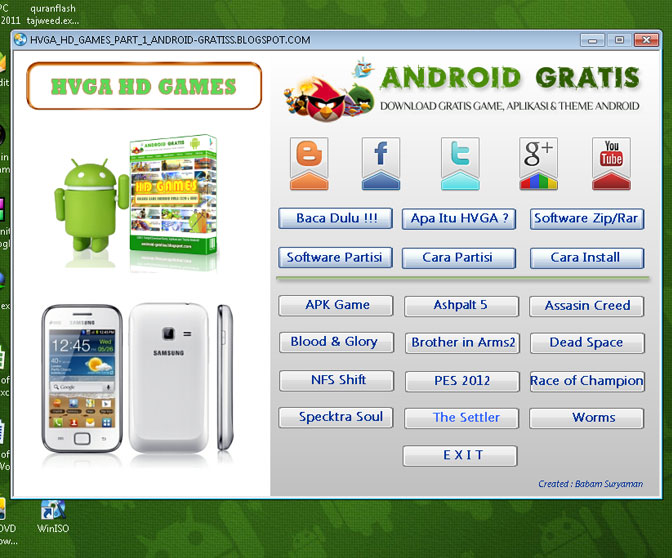 Jual DVD Game Android HD HVGA (320 x 480)