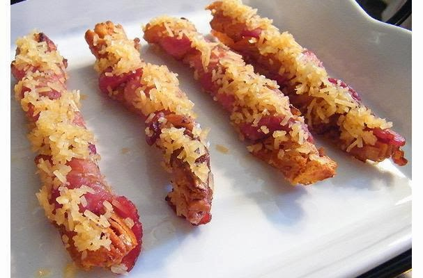Easy Appetizer: Bacon Wrapped Breadsticks