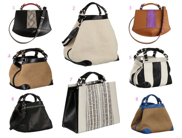 Collage of 8 fave CDM bags from Spring 2016