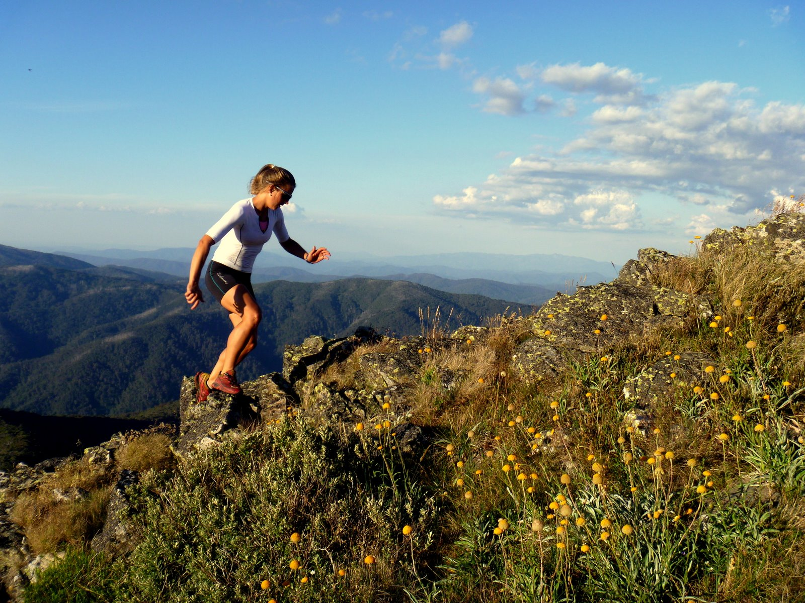 Margaretha Fortmann: Running Mt Stirling and Mt Buller