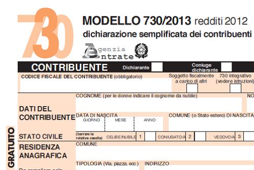 Modello 730 dichiarazione redditi 2013 for Scadenza dichiarazione redditi 2016