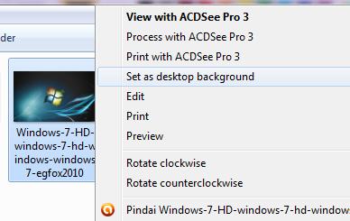 Klik Kanan Windows 7