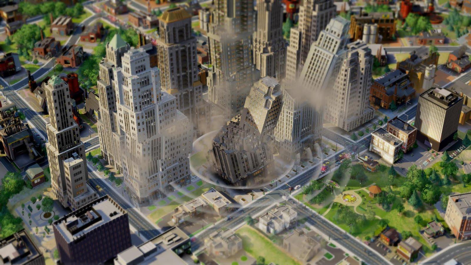 Последствия разрушений в игре SimCity