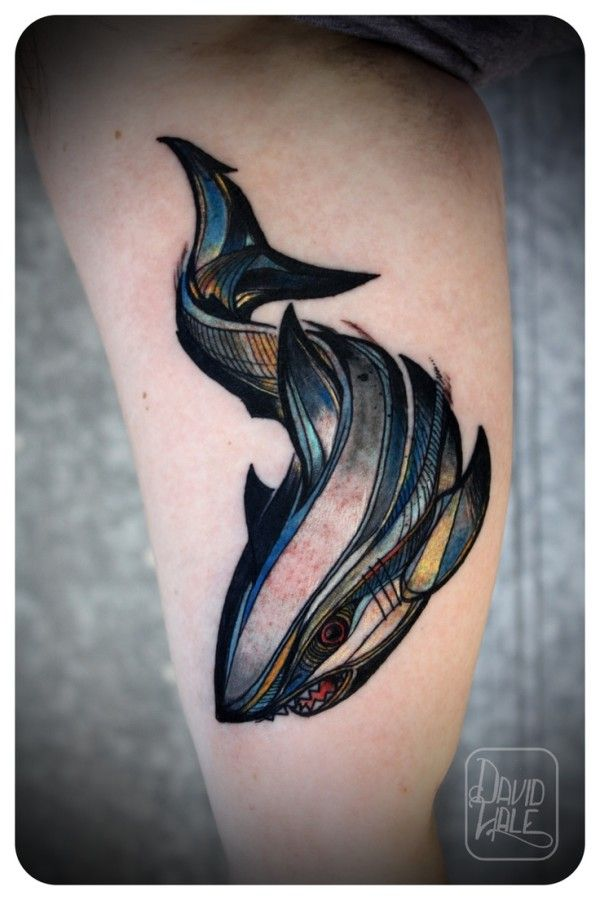 Tatuaje de Tiburón New School
