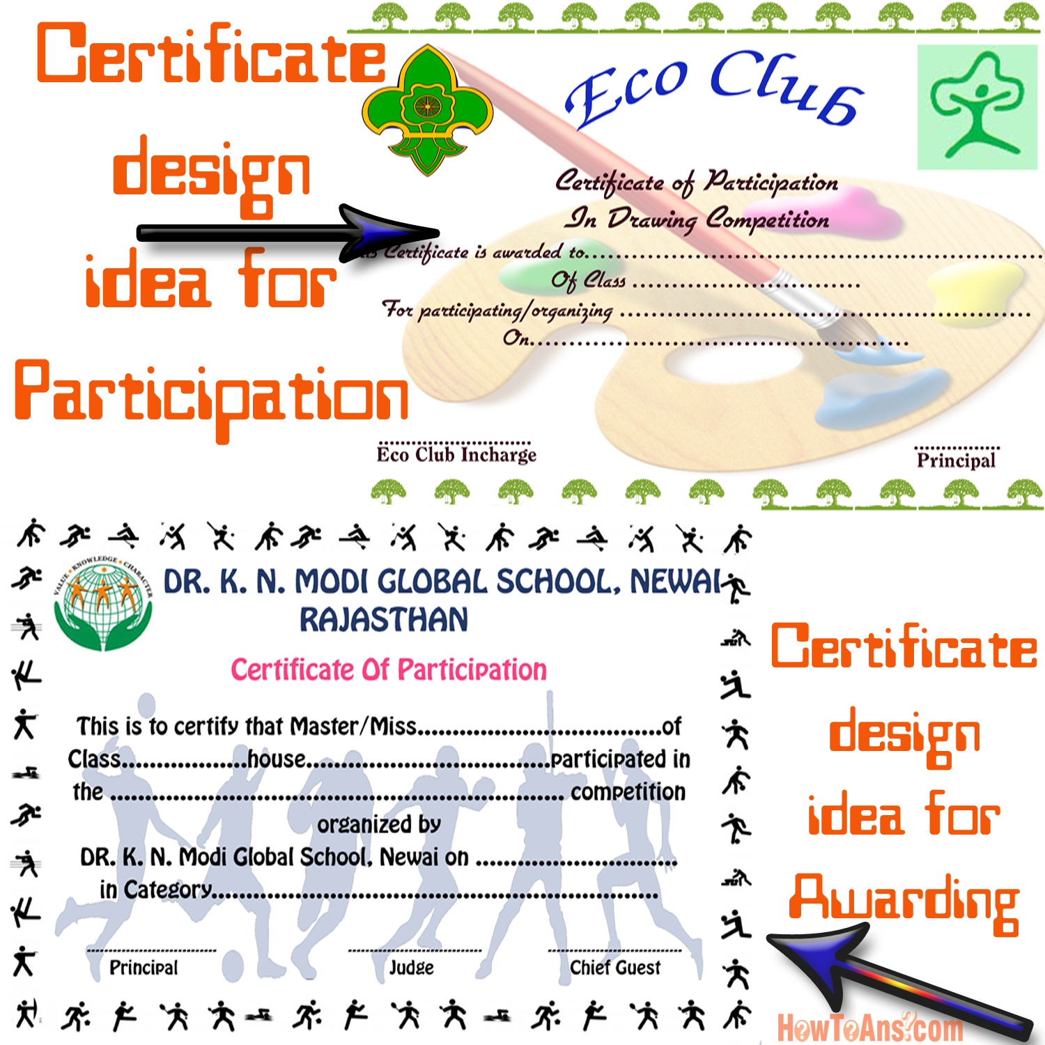 how to design certificates