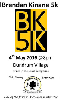 Very fast 5k in Dundrum nr Cashel...Wed 4th May