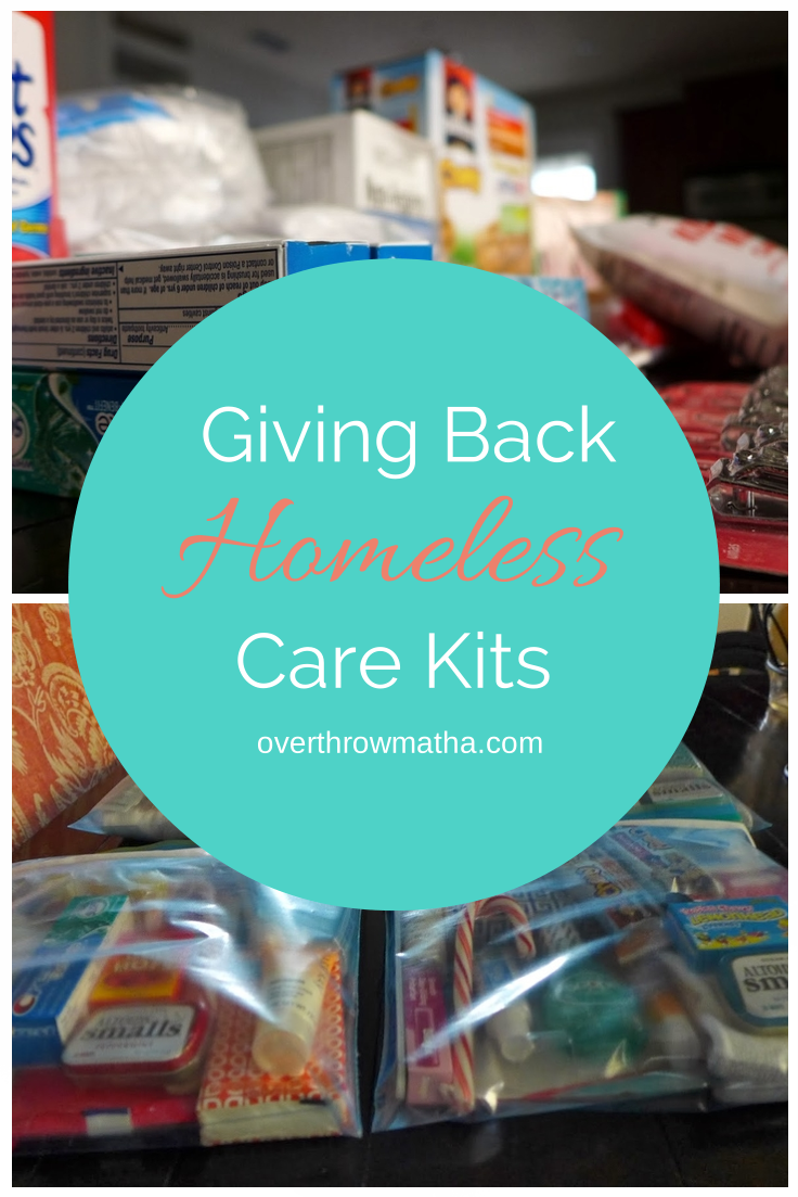 Giving Back: Make a Homeless Care Kit to keep in your car #Kindness #DIY