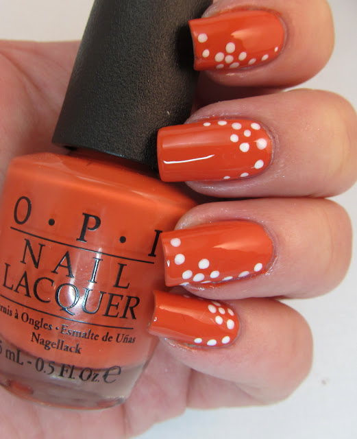 Nail Art Using Dotting Tool: OPI Call Me Gwenever And Dotted Flowers