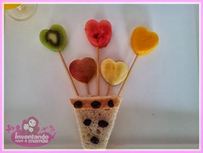 Frutas em formato de coração