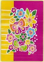 Jual Selimut Rosanna Soft Panel Blanket Bunga Kupu
