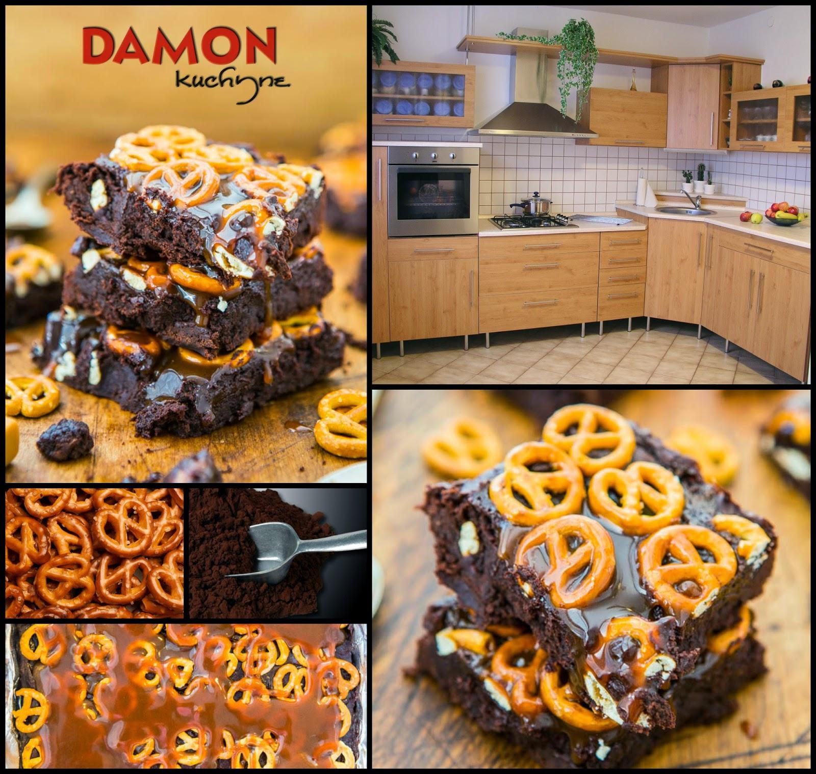 Čokoládové brownies so slanými tyčinkami