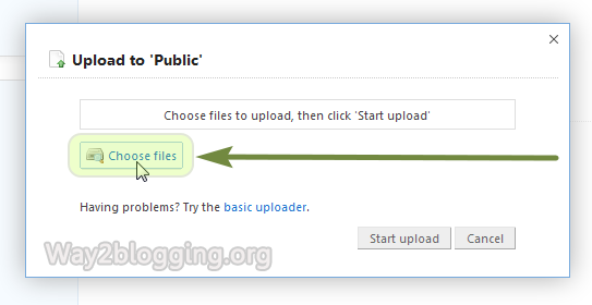 Upload/Host your Files via DropBox Online - Step3