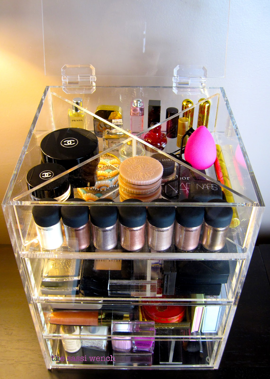 My new acrylic clear cube makeup holder & from Sassi who lived it...: ?? Makeup Storage and Organization ??