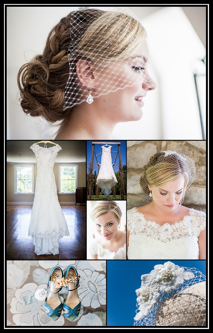 photographs of bride, bridal gown, wedding shoes and accessories