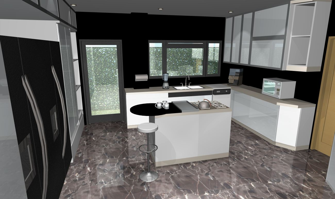 A g dise o arquitectonico y de ingenieria renders for Piso de marmol negro