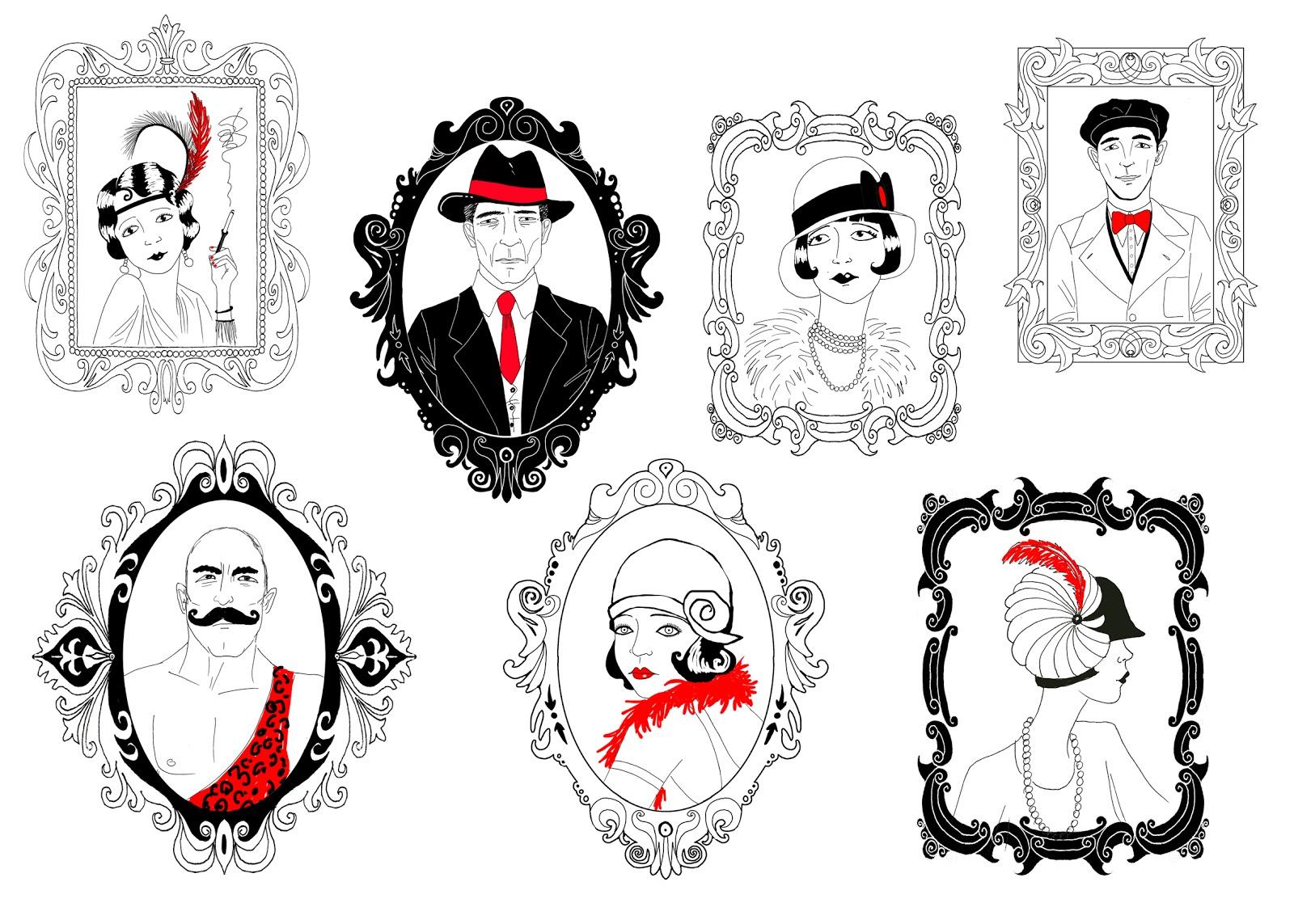 Elena uve ilustraci n serie de ilustraciones inspiradas en los a os 20 para la decoraci n de - Fiesta anos 20 ...