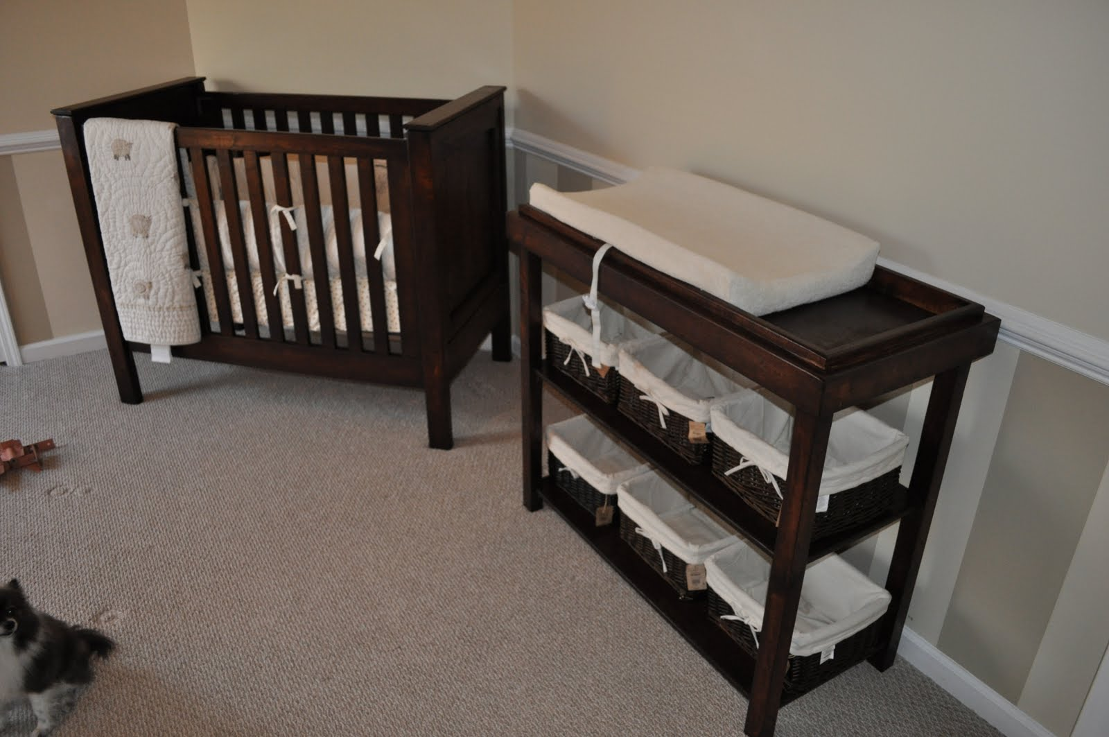 The Weston Deep Rustic Baby Crib 2200