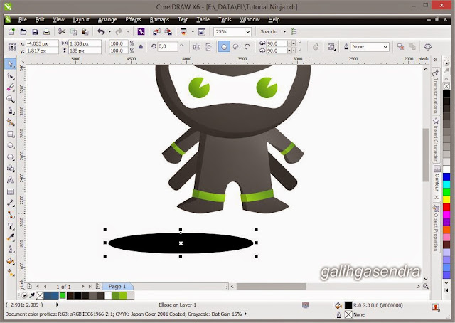 Free Download Vector Little Cute Ninja