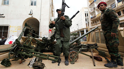 Destroying Libya: Globocrats No Longer Hide Support For Rebels LibyanRebelGunmen