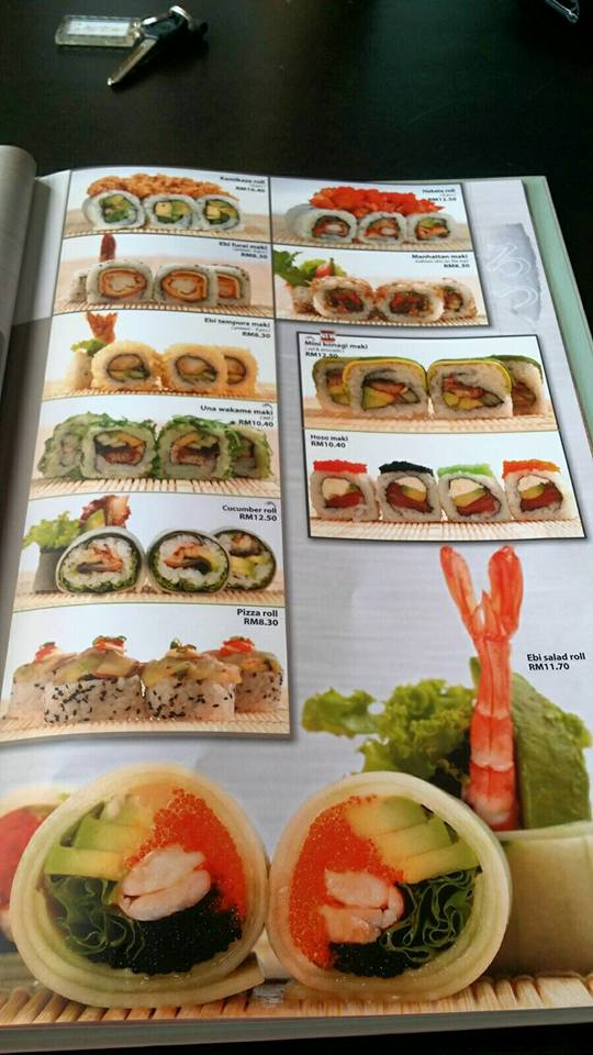 excapade sushi miri menu price and reservation contact no