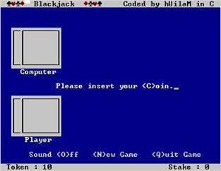 Blackjack qbasic