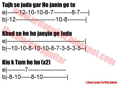 Piano piano tabs of tum hi ho : Guitar : guitar tabs of tum hi ho Guitar Tabs Of Tum and Guitar ...