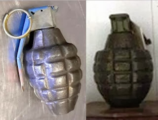 Left to Right: Grenades Discovered at ELP & SFO
