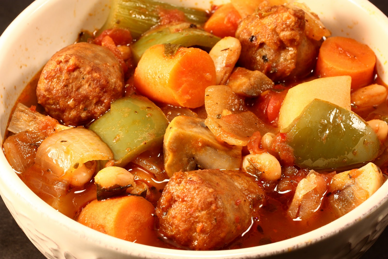 Chef Chuck's Cucina: Chef Chuck's Sausage Stew