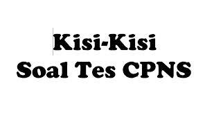 Soal Tes CPNS Kategori 2