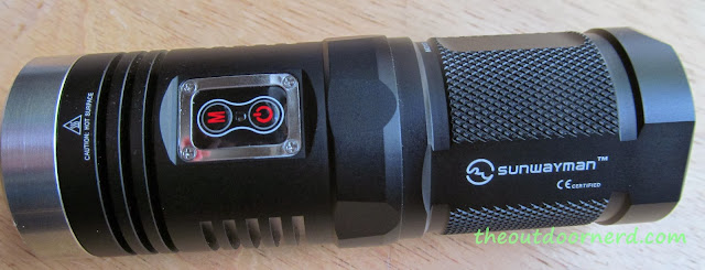 Sunwayman D40A [4xAA Flashlight] - Top View