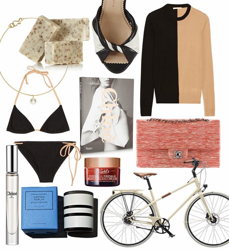 Columbine Smille wish list, Chanel bag, Chloé Attitudes, Kiehl's eye cream