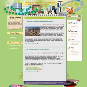 Port City blogger template. converted WordPress to Blogger template. business template for blog. blog template tech