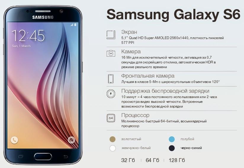 Старт продаж нового смартфона Samsung Galaxy S6