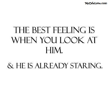 The best feeling of a girl ~ nice thought