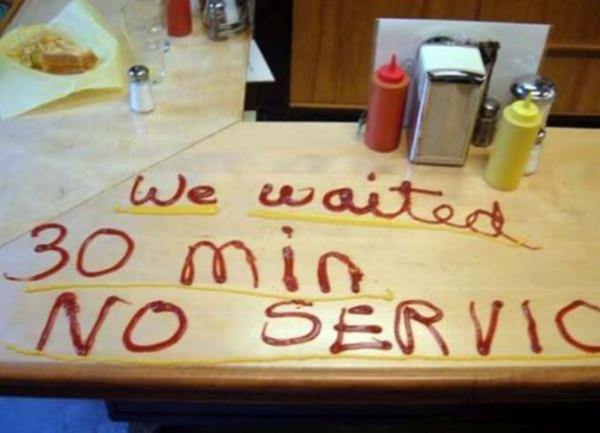 Waiter Does not serve You!
