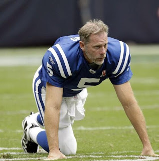 Kerry Collins looks battered and beaten -- before kickoff