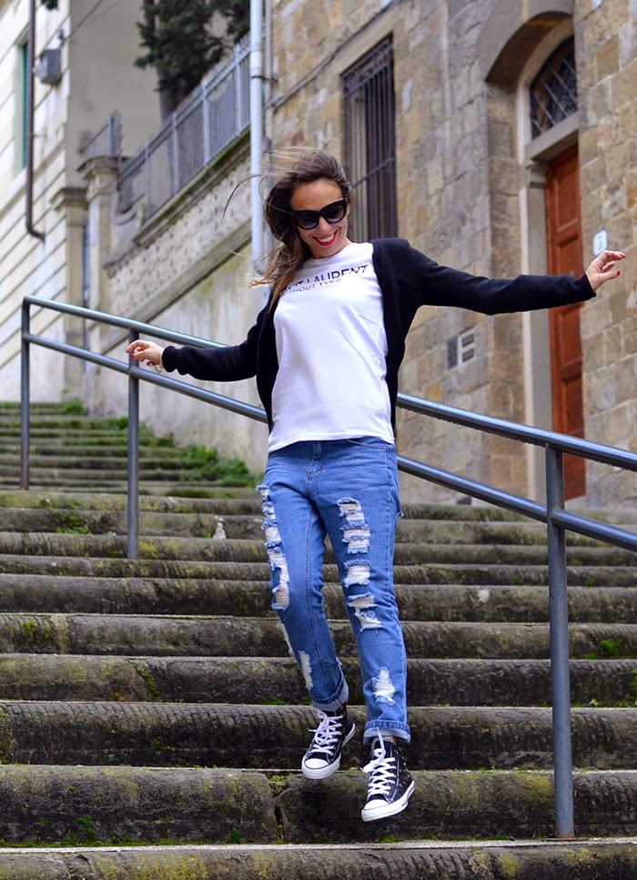 jeans maglietta outfit fashion blogger