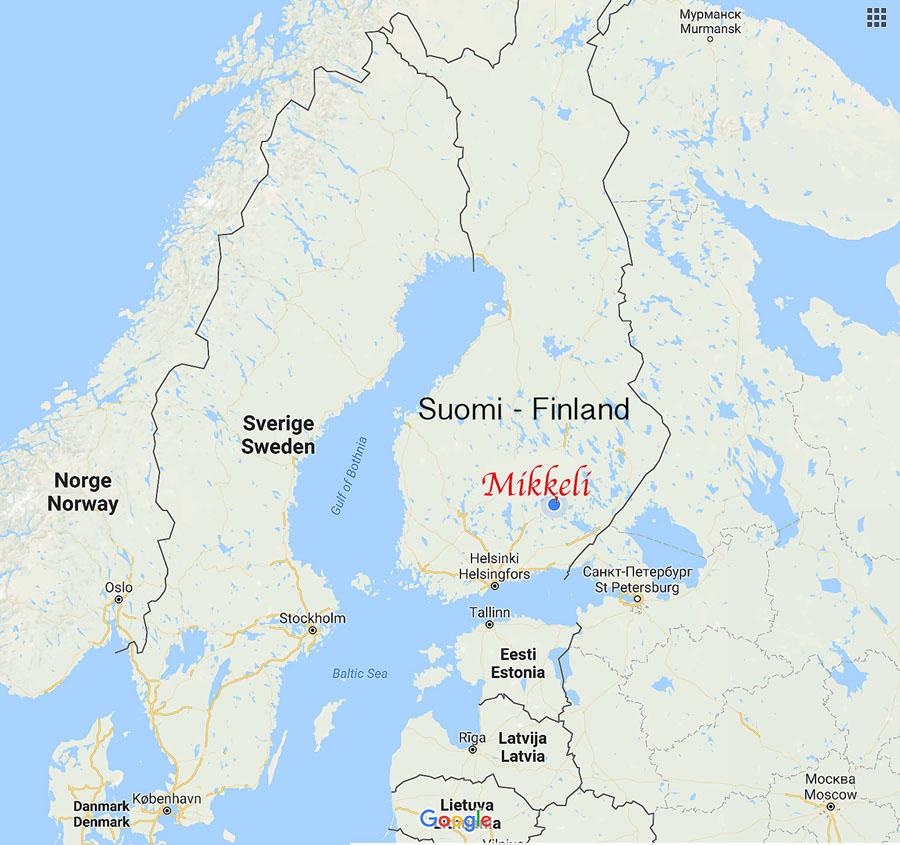 Map - MIKKELI