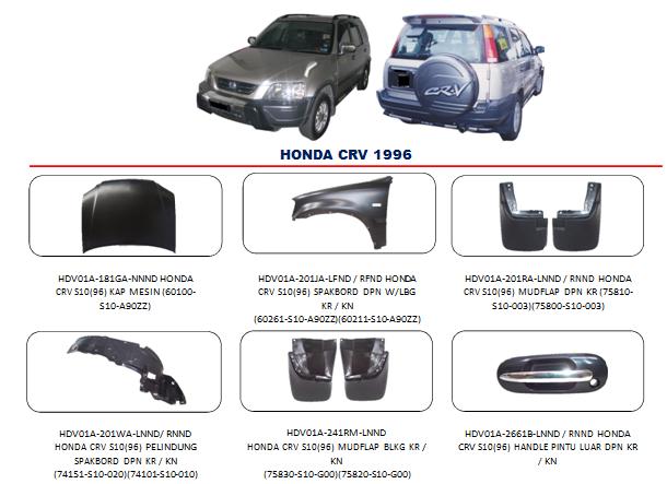 Bemper Honda CRV 1996
