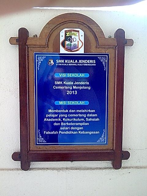 Misi dan Visi Di Bahagian Hadapan Pejabat
