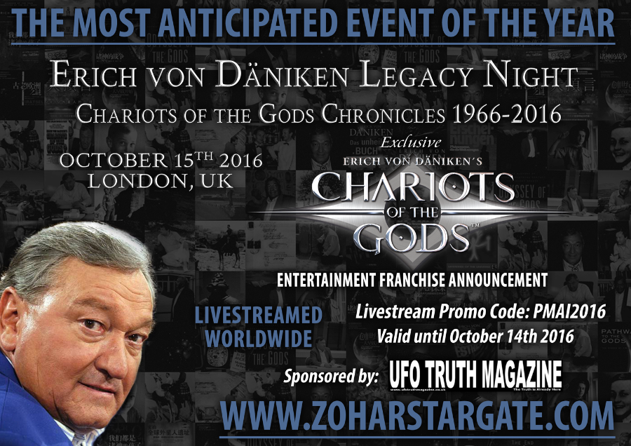 ERICH VON DANIKEN LEGACY NIGHT