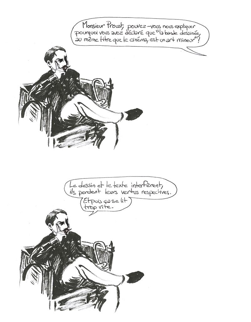 Marcel Proust sur la bande dessinée