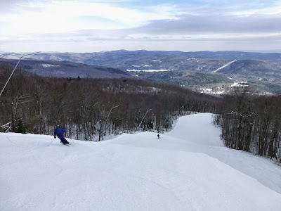 Okemo Mountain, Friday 01/31/2014.  The Saratoga Skier and Hiker, first-hand accounts of adventures in the Adirondacks and beyond, and Gore Mountain ski blog.