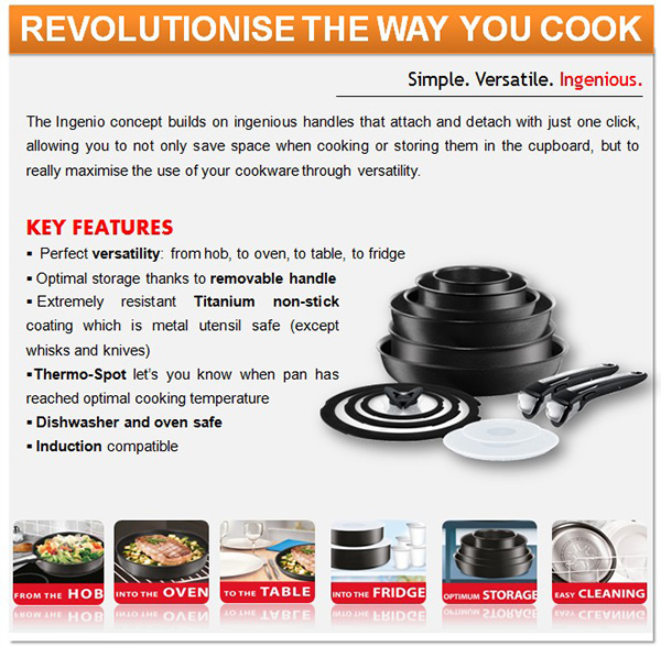 Tefal Ingenio – Cooking Made Simple